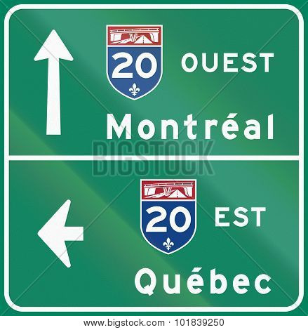 East And West Direction In Canada
