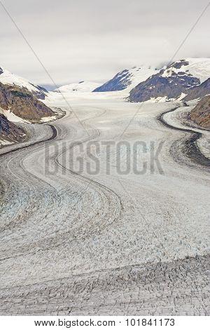 Looking Up An Alpine Glacier