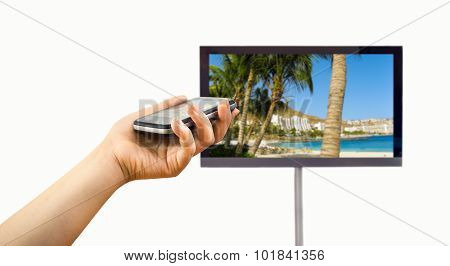 Connected To A Television