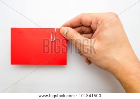 Showing Red Visit Card