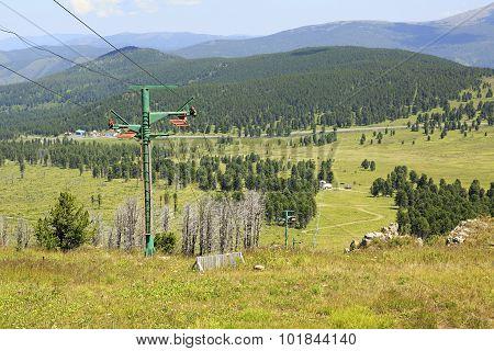 Ski lifts of Mount Tiyahty. Sports complex Seminsky.
