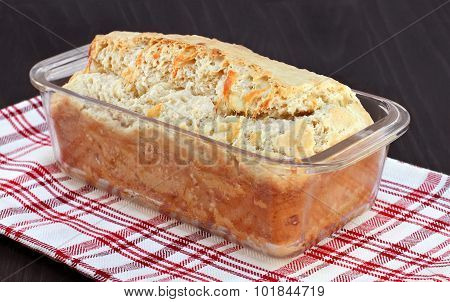 Cheddar Cheese Loaf Of Bread, Freshly Baked.