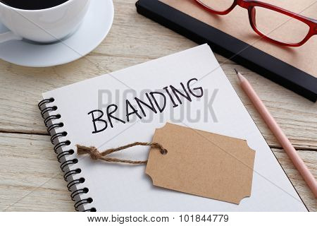 Branding With Notebook And Brand Tag