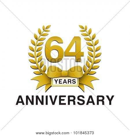 64th anniversary golden wreath logo