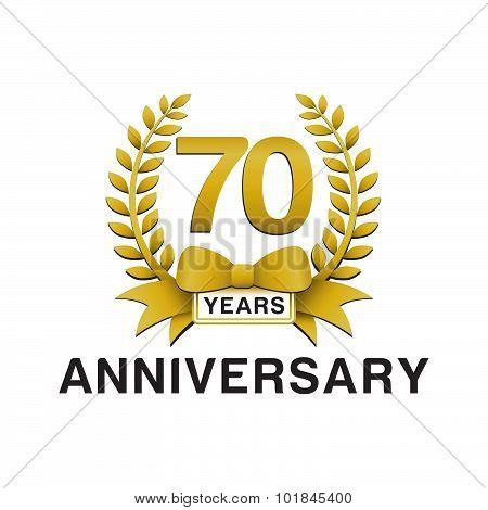70th anniversary golden wreath logo