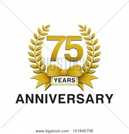 75th anniversary golden wreath logo
