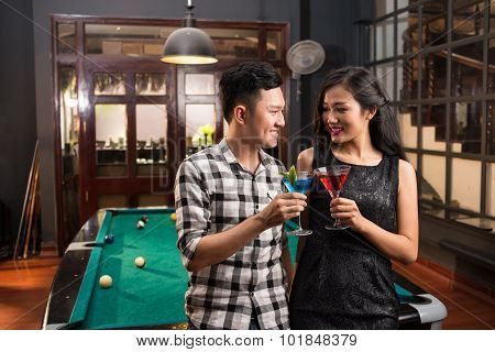 Vietnamese Couple In The Bar