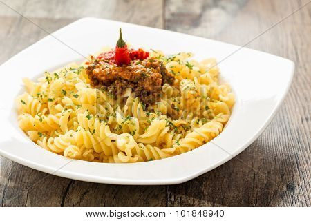 Pasta With Chili Pesto