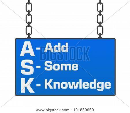 Ask Formula Signboard