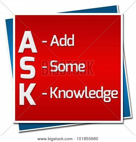 Ask Formula Red Blue Squares