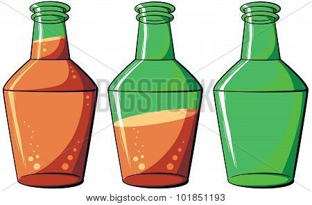 Illustration With Simple Gradients With The Image Of Cartoon Bottle