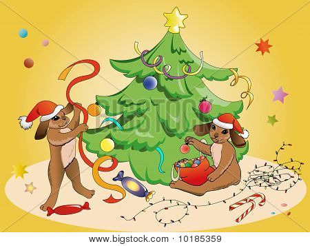 Rabbits And Christmas