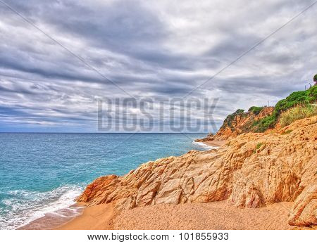 Beach With Rock