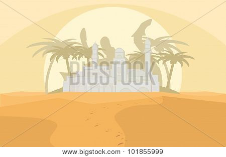 mirage in a desert