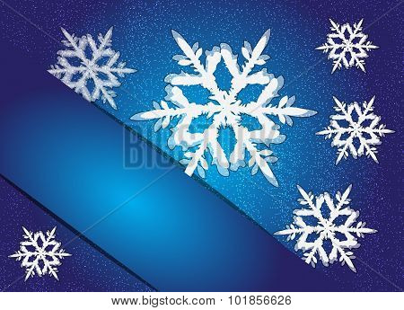 Chirstmas Snowflakes Background