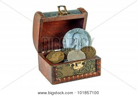 Chest With Ancient Coins