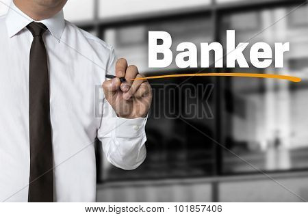 Banker Is Written By Businessman Background
