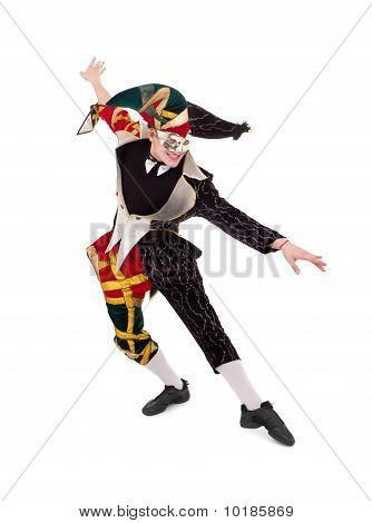 Happy Harlequin Posing