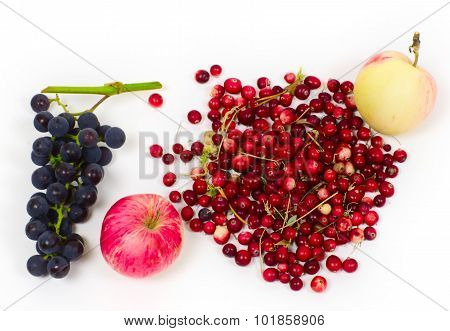 Grapes, Apples And Cranberry