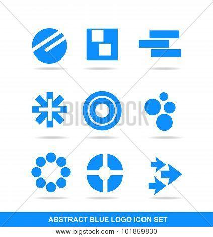 Blue Icon Logo Element Set