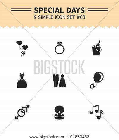 Special days icon set 3