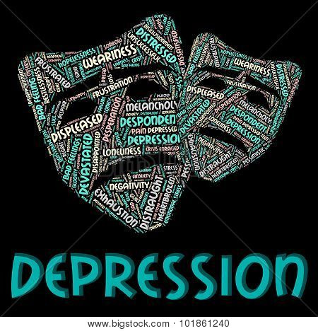 Depression Word Represents Hopelessness Sad And Text