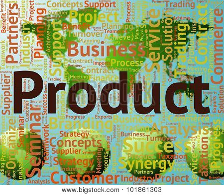 Product Word Shows Products Stock And Store