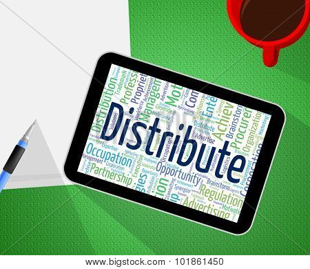 Distribute Word Means Supply Chain And Delivery