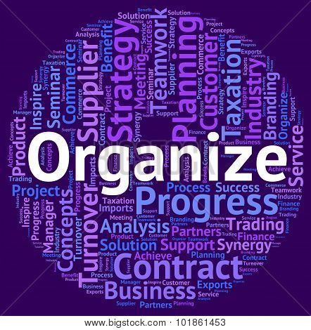 Organize Word Means Wordclouds Text And Structure