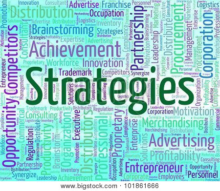 Strategies Word Indicates Tactic Words And Plan