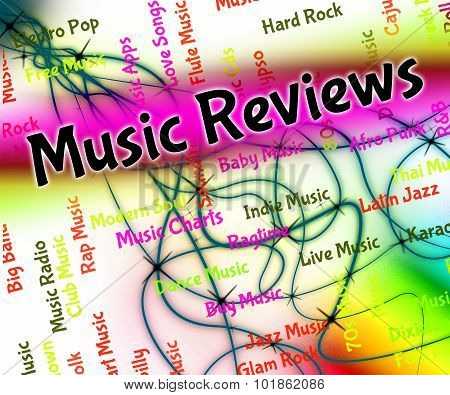 Music Reviews Shows Sound Track And Assess