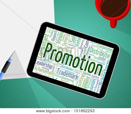 Promotion Word Represents Closeout Sale And Promotional