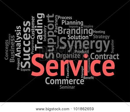 Service Word Means Words Support And Assistance