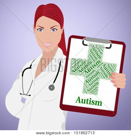 Autism Word Shows Poor Health And Afflictions