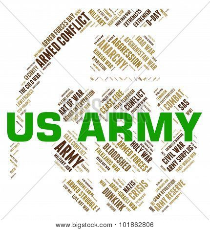 Us Army Indicates The United States And Department