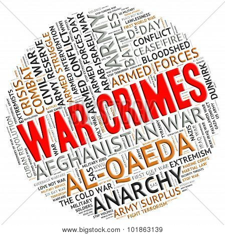War Crimes Indicates Military Action And Clash