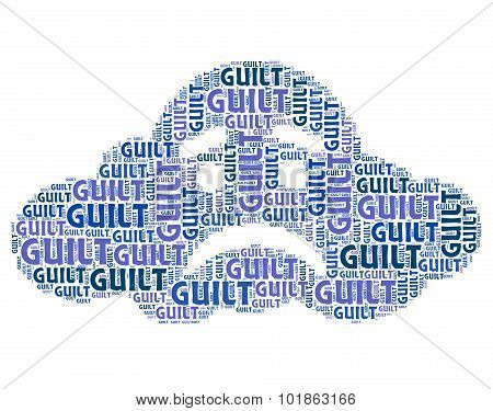 Guilt Word Means Guilty Feelings And Pangs