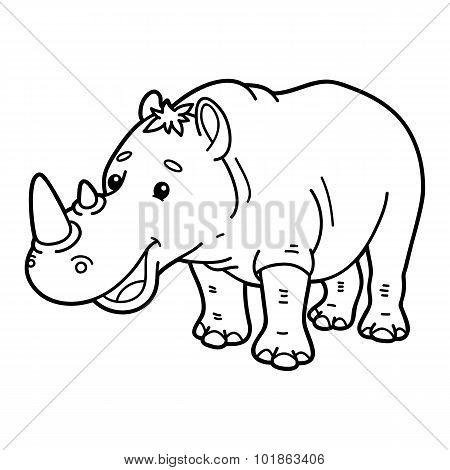 Cute rhinoceros.