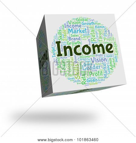 Income Word Indicates Earning Salaries And Employed