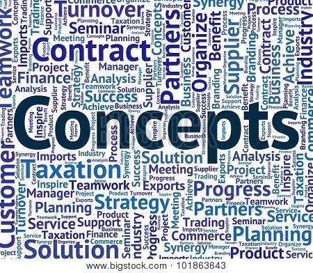 Concepts Word Represents Thinking Theory And Think
