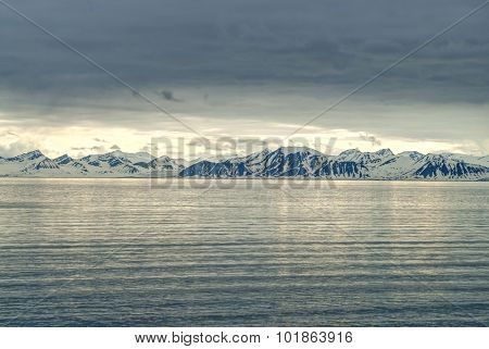 Snowy Mountains By The Ocean, Arctic