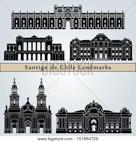 Santiago De Chile 2 Landmarks