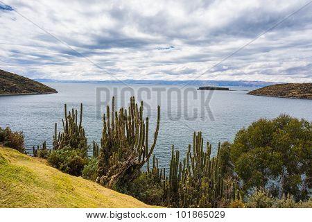 Panorama On Island Of The Sun, Titicaca Lake, Bolivia