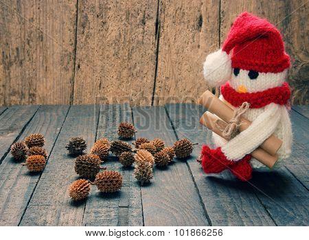 Xmas Ornament, Handmade, Christmas, Snowman