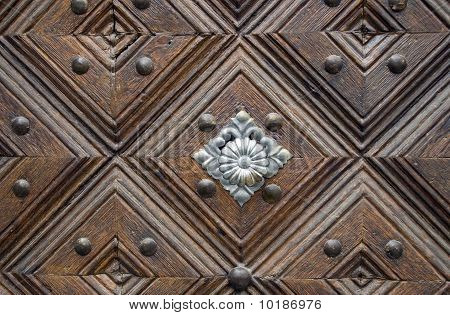 old carved doors