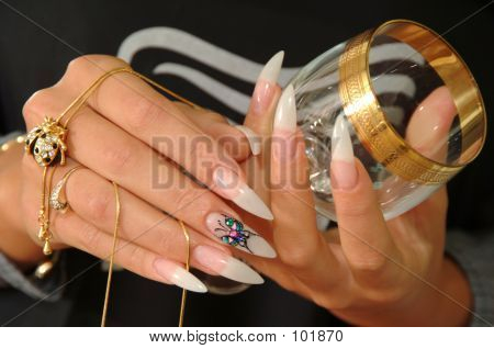 Beautiful Nails And Glass