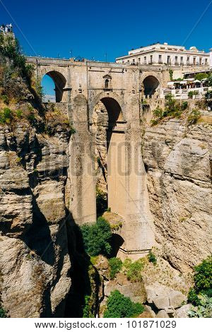 The New Bridge - Puente Nuevo in Ronda, Province Of Malaga, Spain