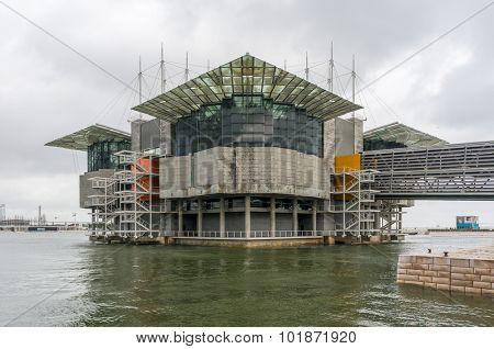 LISBON, PORTUGAL - MARCH 26, 2013: Oceanarium building at Nations Park in Lisbon, Portugal