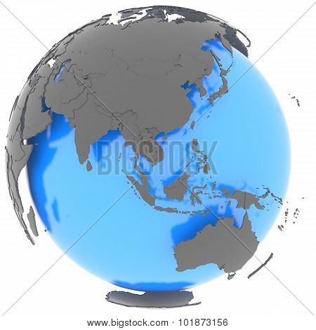 Eastern Hemisphere On The Planet