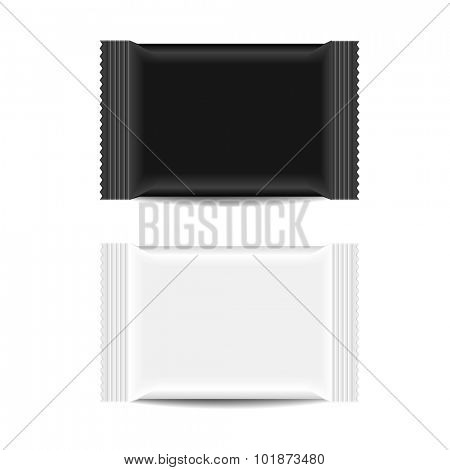 detailed illustration of a blank Snack Bar packaging template, eps10 vector
